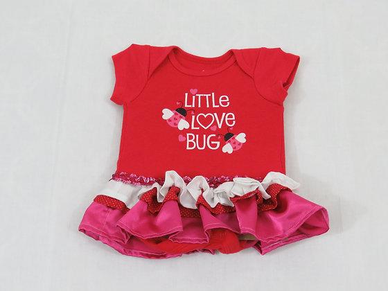 """""""Little Love Bug"""" Onesie Dress, Newborn"""