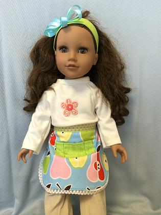 """18"""" Doll Apron & Headband"""
