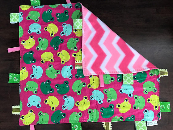 """""""Frogs"""" Baby Blanket"""