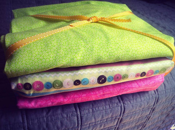 """""""Buttons"""" Set of 3 Crib Sheets"""