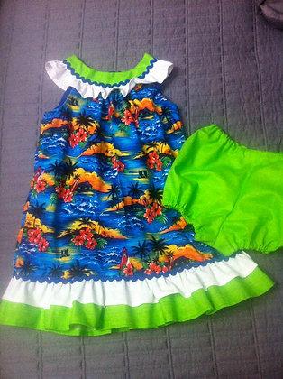 Hawaiian Dress, Size 18 months