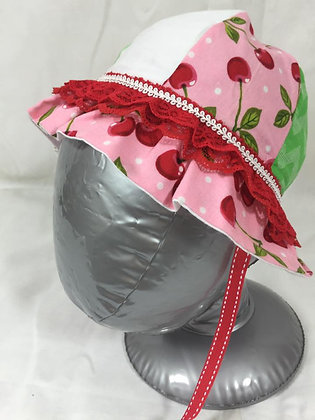 """Cherries"" Sun Hat, Size 18m0s"