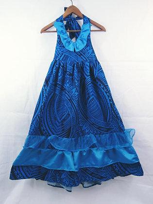 """""""Blue Waters"""" Tahiti Dress, Size 6"""
