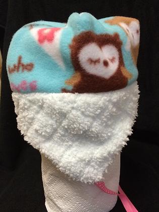 "White ""Owl"" Hat, Size 18 months"