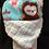 "Thumbnail: White ""Owl"" Hat, Size 18 months"