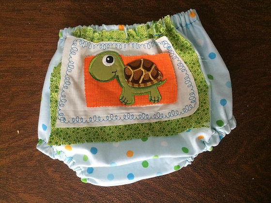 """Turtle"" Diaper Cover, Size 6 months"