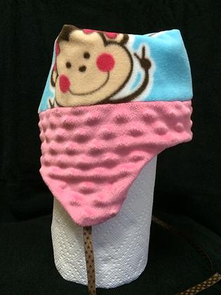 "Pink ""Monkey"" Hat, Size18 months"