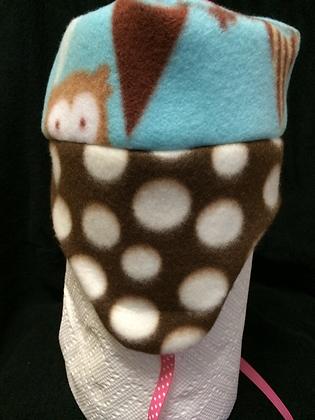 "Brown ""Owl"" Hat, Size 6 months"