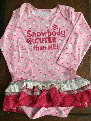 """Snowbody is Cuter than Me"" Onesie Dress, Sz 24mos"