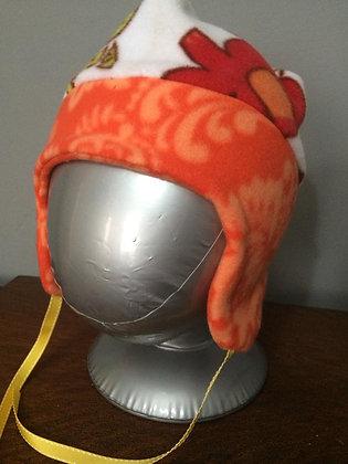 "Orange ""Jungle"" Hat, Size 18 months"