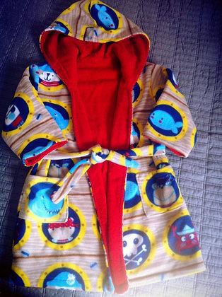 """Ship's Ahoy!"" Toddler Robe, Size 4T"