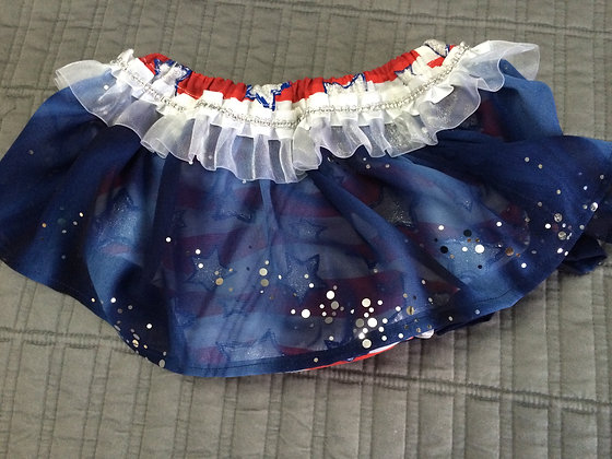 """""""Red, White, & Blue"""" Diaper Cover, Size 0-3 months"""