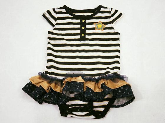 """""""Star & Stripes"""" Onesie Dress, Size 12 mos"""