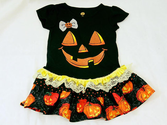"""Jack-O'-Lantern"" Dress, Size 12mos"