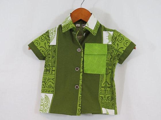 Tahitian Button-down Shirt, Size 2T