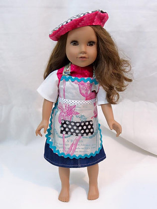 "18"" Doll Apron & Hat"
