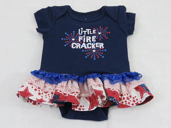 """""""Little Fire Cracker"""" Onesie Dress, Newborn"""