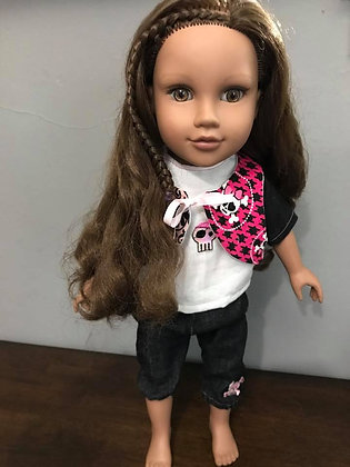 """""""Skullz"""" 18"""" Doll Outfit"""