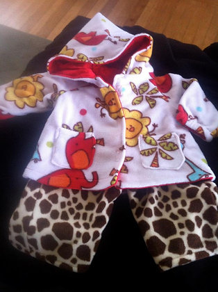 Jungle Sweat Suit, Size 12-18 months