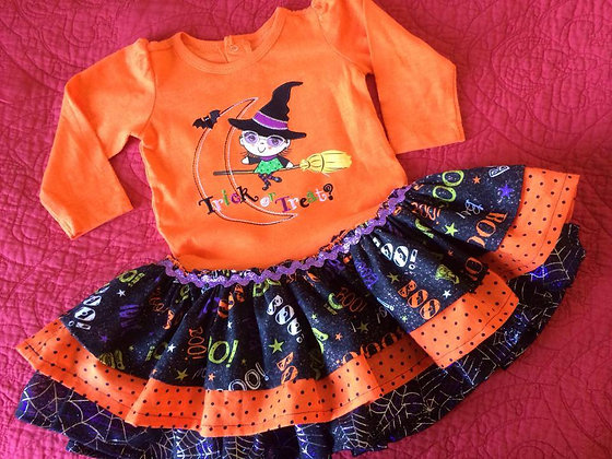 """""""Trick or Treat"""" Dress, Size 6 months"""
