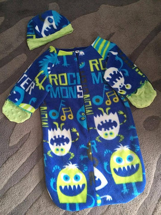 """""""Monsters"""" Bunting with Cap, Size 6 months"""