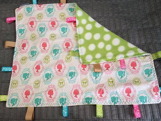 Girl Silhouette Baby Blanket