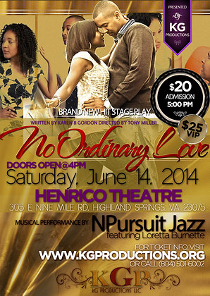 No Ordinary Love DVD        June 14, 2014