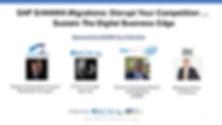 SAP S/4HANA Migrations Webinar Cover