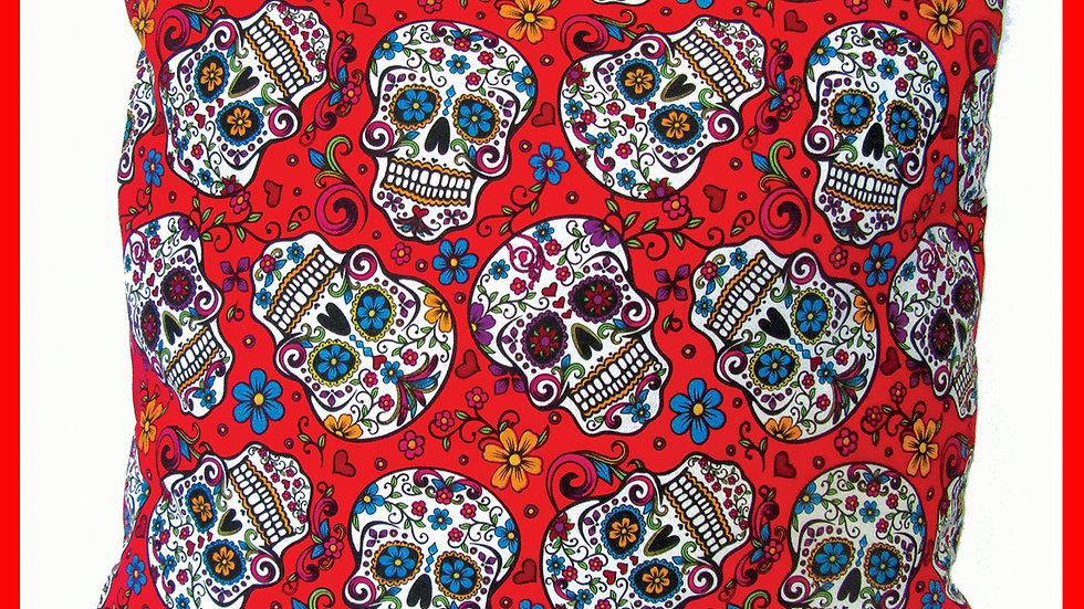 Mexican 'Sugar Skull' Cushion by Viva Los Muertos