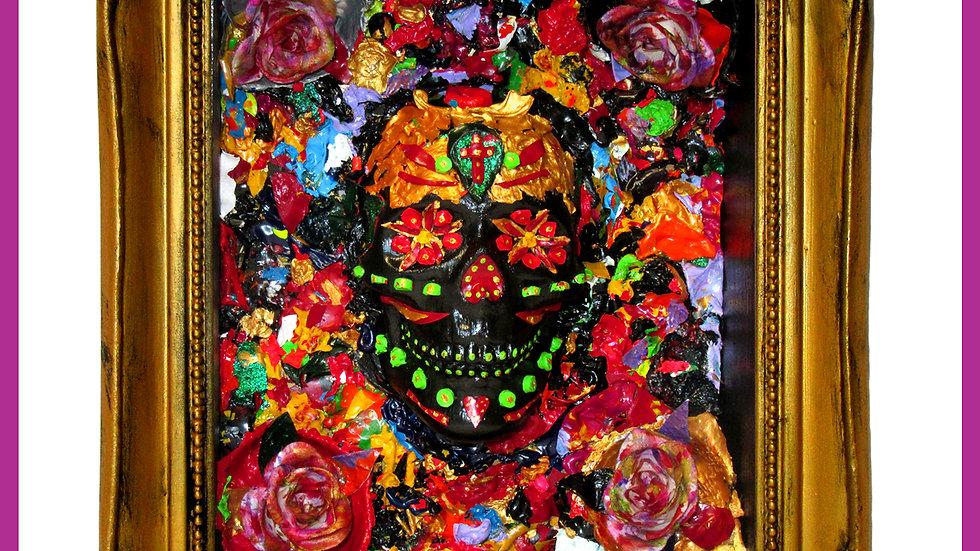 'Calavera Pintada De Los Oros' by Viva Los Muertos