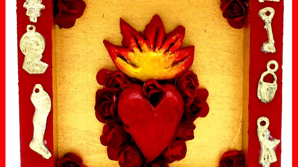 'Sacred Heart Milagro Box' by Viva Los Muertos