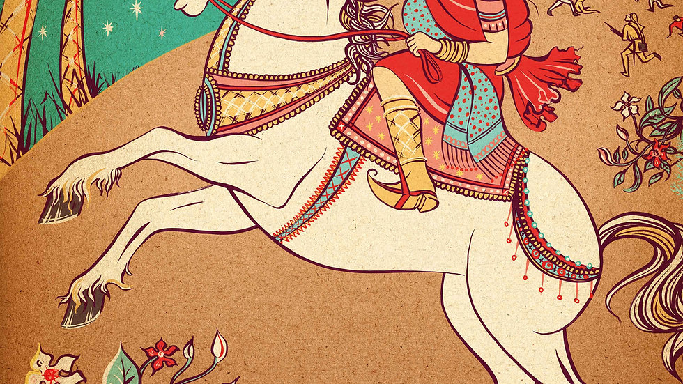 'Lakshmibai' A2 Print by Sue Gent