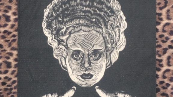 'Bride of Frankenstein' Tea-towel