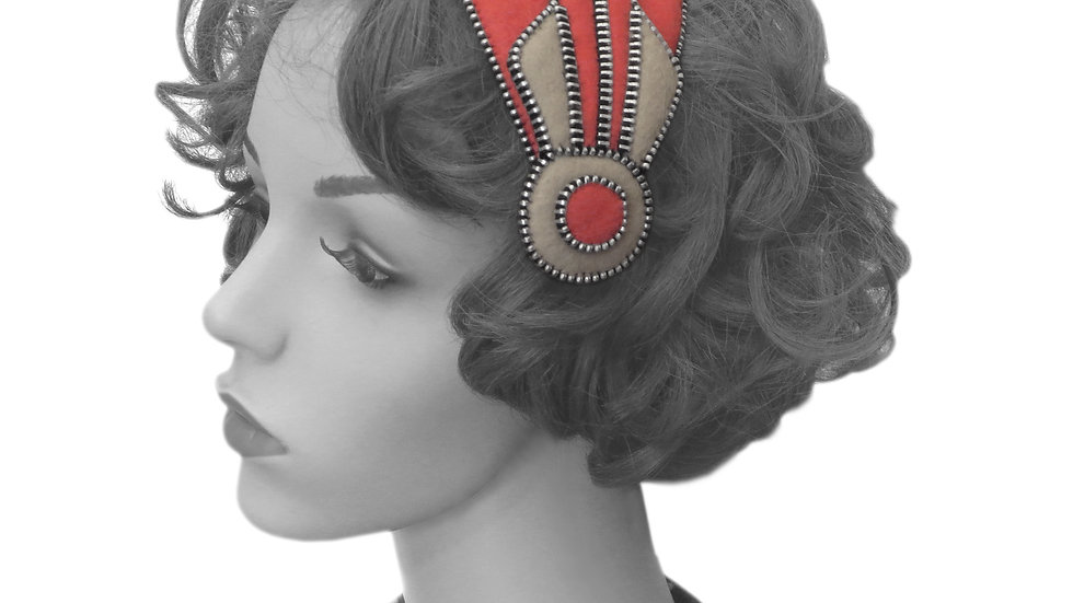 'Deco' Fascinator by Rosie French