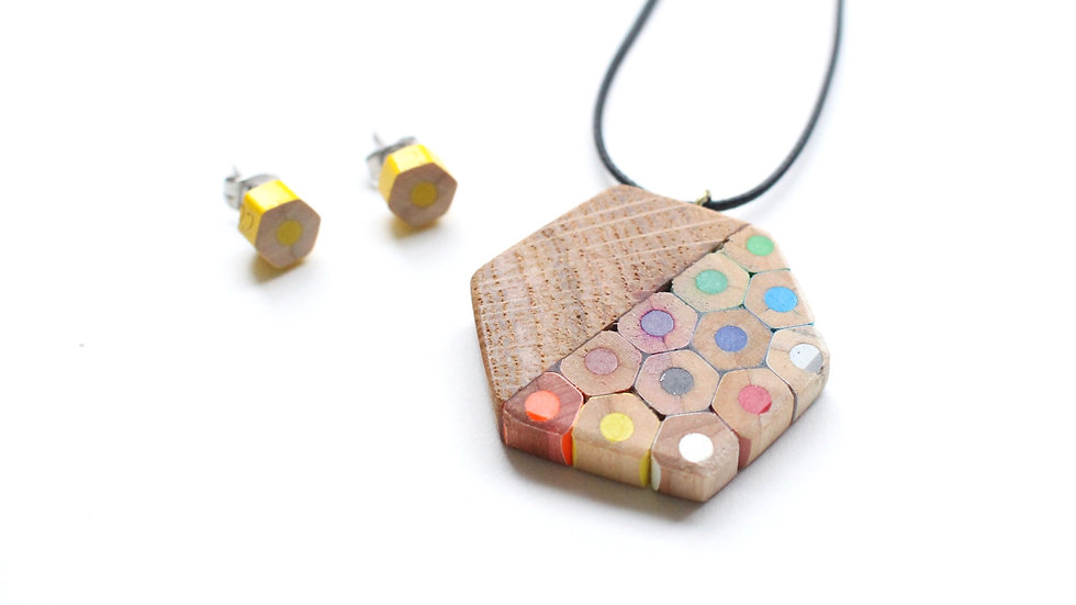 Hex Pencil pendant by Lydia Swann