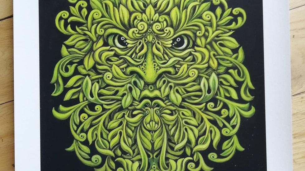'Green Man' by Dave Panit (A3 print)