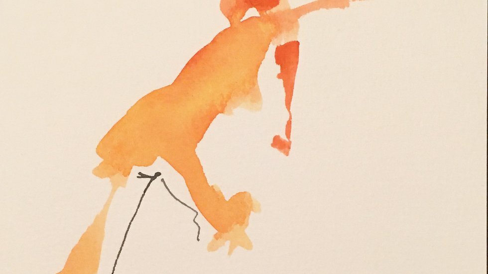'Stretching RedFigure' by Flo Lipin
