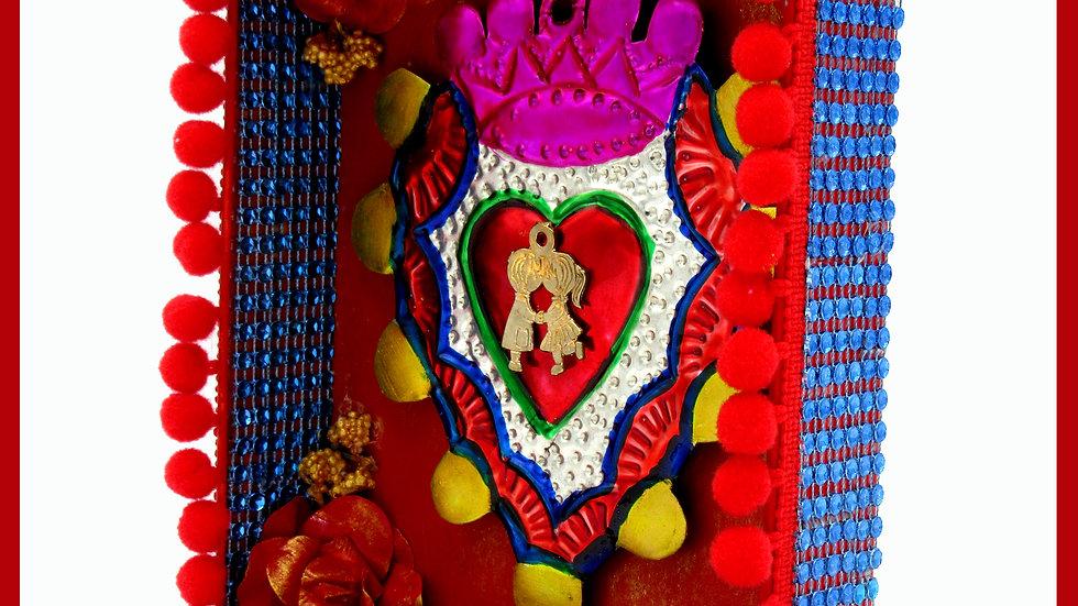 'Sacred Heart 'Amor' Tin' by Viva los Muertos