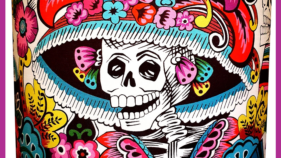 'Day of the Dead' Catrina Ceiling Shade by Viva Los Muertos