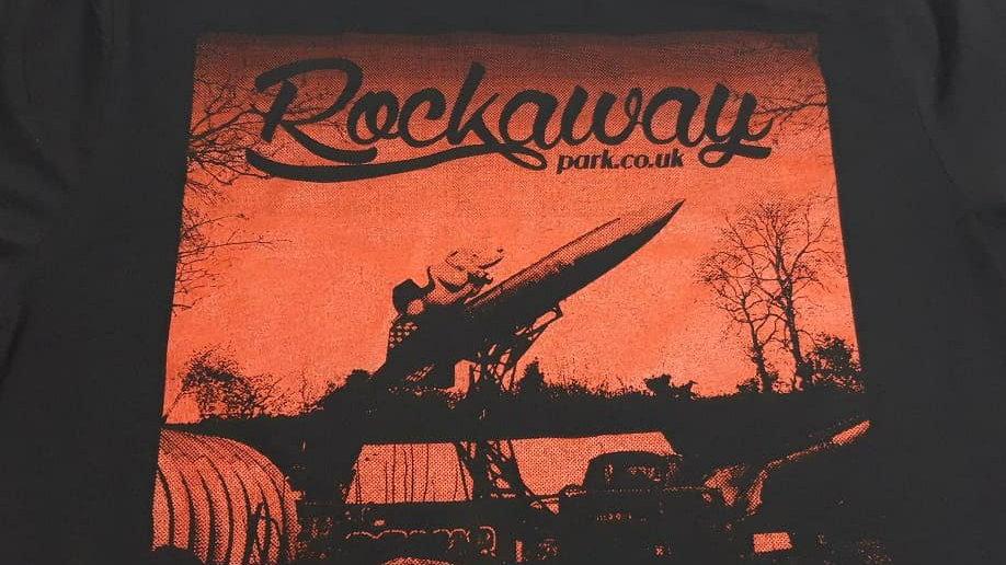 Rockaway T-shirt (red print)