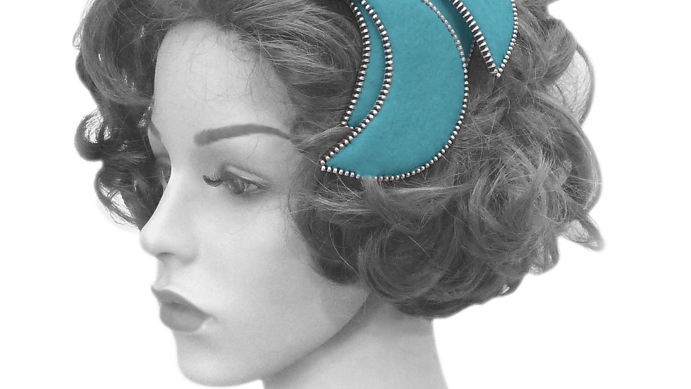 'Burlesque' Fascinator by Rosie French
