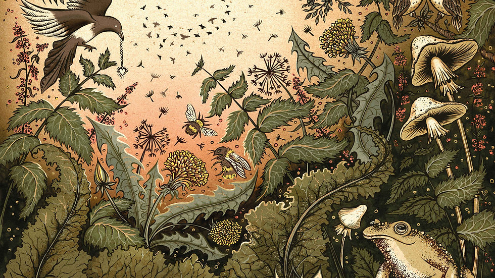 'Rural Myths' A2 print by Sue Gent
