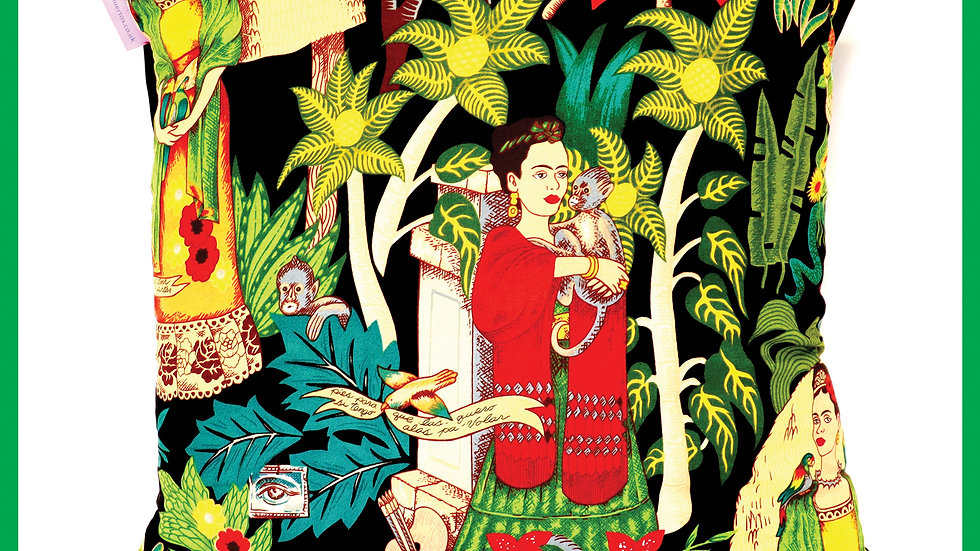 'Frida's Garden Cushion' by Viva Los Muertos