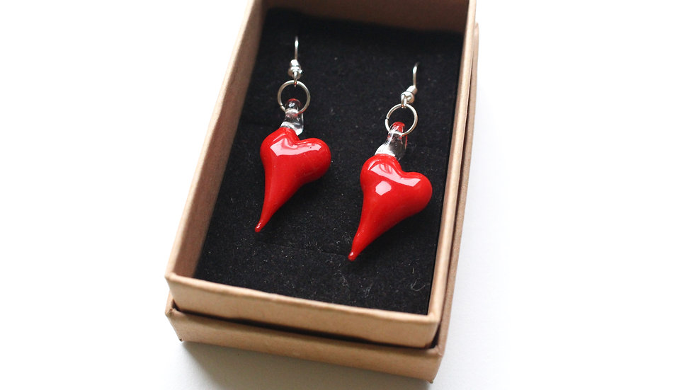Heart of Glass Earrings by Lydia Swann