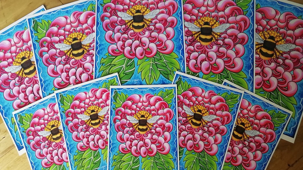'Bee' by Dave Panit (A3 print)