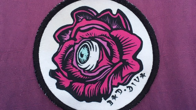 'Rose Vision' patch (white & pink)