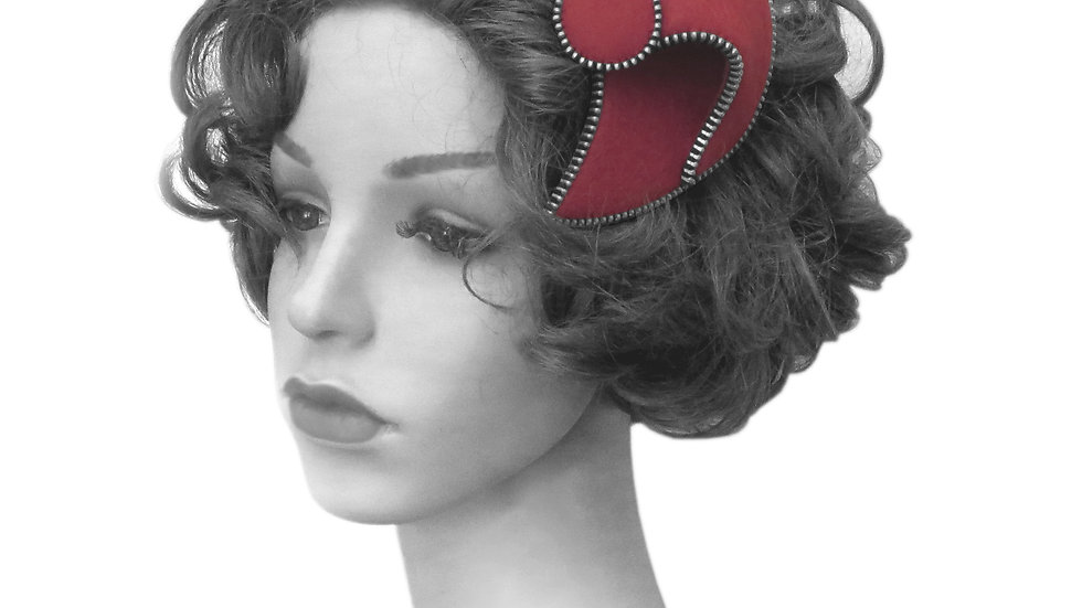 'Smart' Fascinator by Rosie French