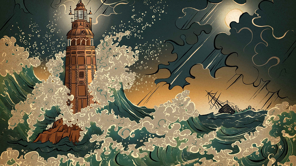 'The Great Storm' A2 Print by Sue Gent