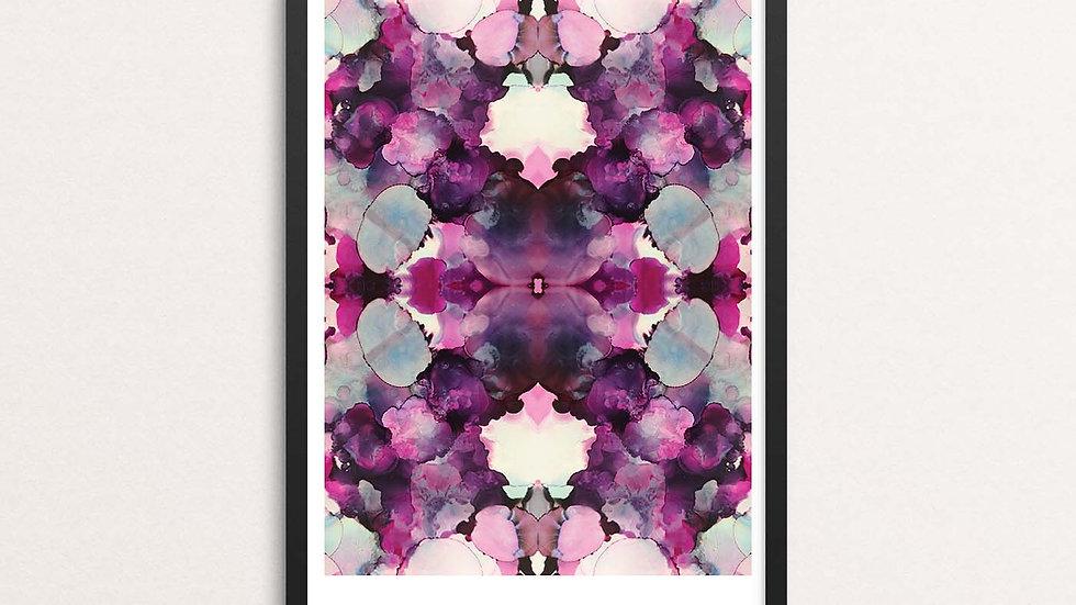 'Pink Inkblot' A3 print by Lisa Travers