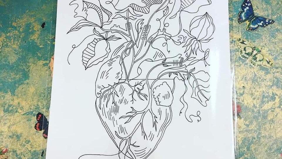 'Triumph Of A Heart' A3 Print by Viva La May